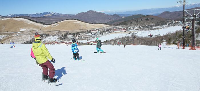 白樺湖ロイヤルヒルスキー場に行く格安スキーバスツアー スノボー