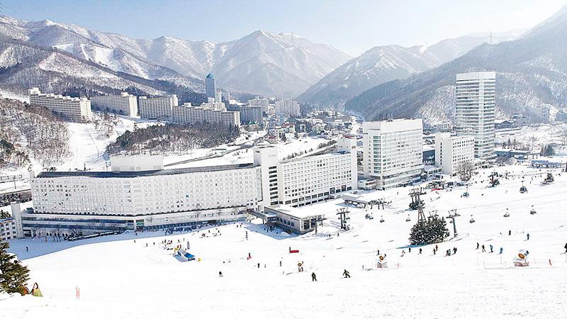 新潟のスキー場近...