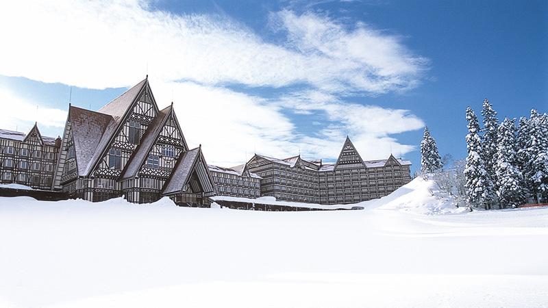 長野のスキー場近...