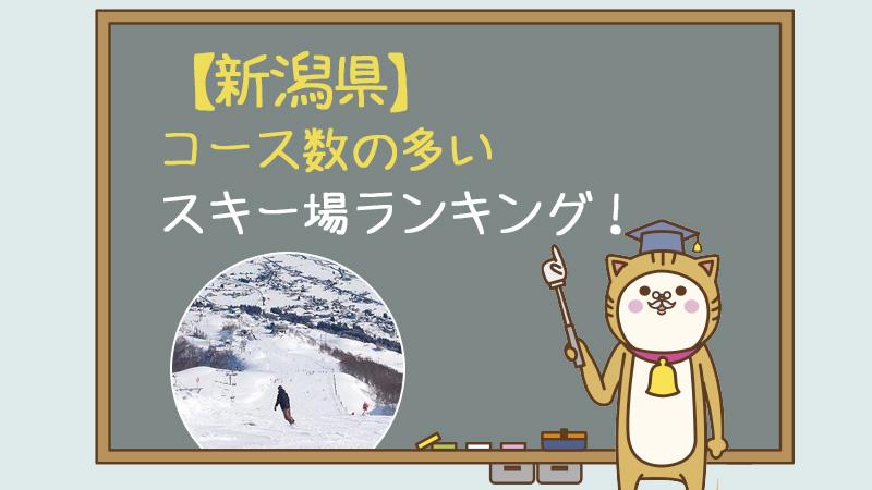【新潟県】コース数の多いスキー場ランキング!